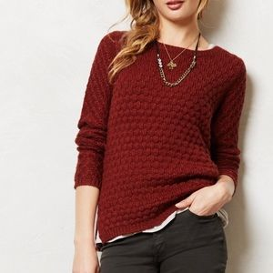 Field Flower [Anthropologie] Rennes Rust Sweater